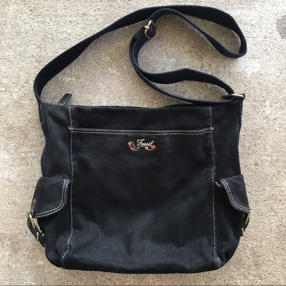 Fossil Handbags - Fossil | Black Embroidered Crossbody